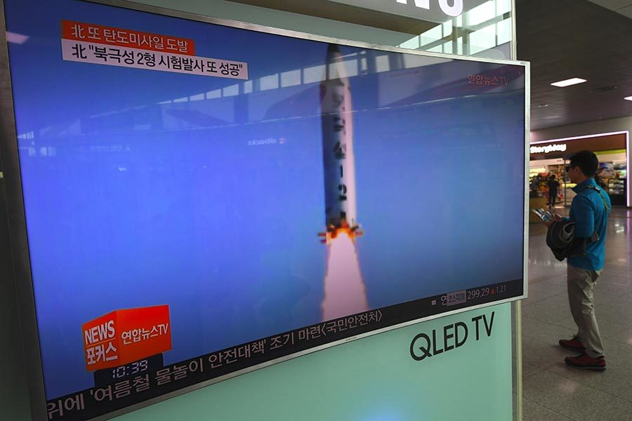 北韓再次試射 或是飛毛腿導彈