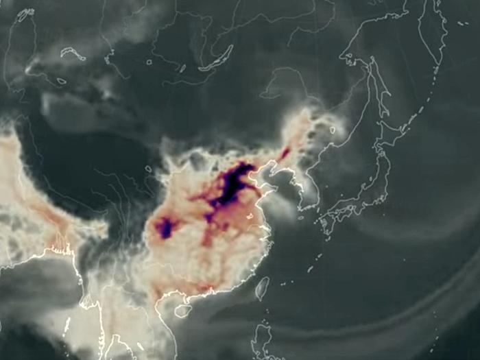 NASA監測揭大陸一氧化碳污染殃及日韓台