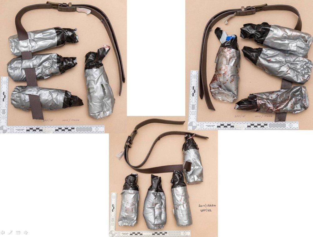 倫敦恐襲 三凶犯佩戴的偽裝自殺式腰帶曝光