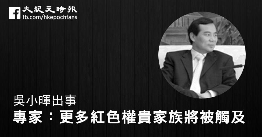 吳小暉出事 專家:更多紅色權貴家族將被觸及