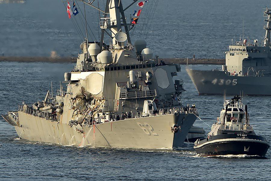 美驅逐艦和貨輪相撞 七失蹤水手已遇難