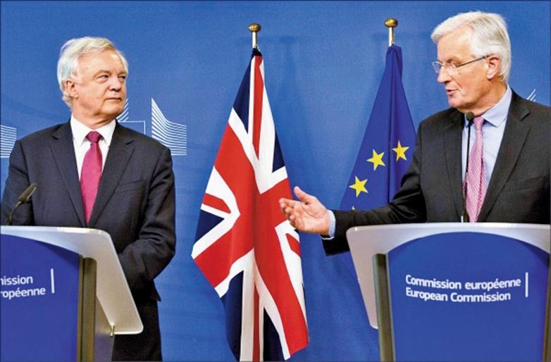 英脫歐首次談判 勾勒時程與議題