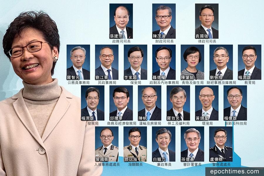 國務院任命下屆特區政府官員 三司留任