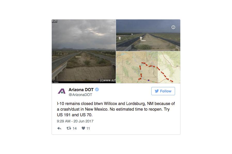 強風揚塵 美高速公路廿五車連環撞致六死