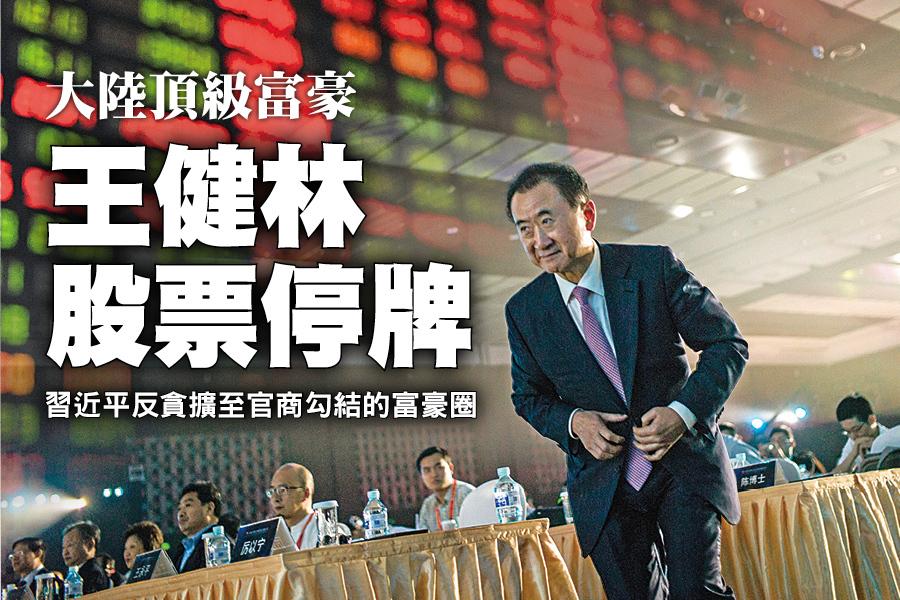 大陸頂級富豪 王健林股票停牌