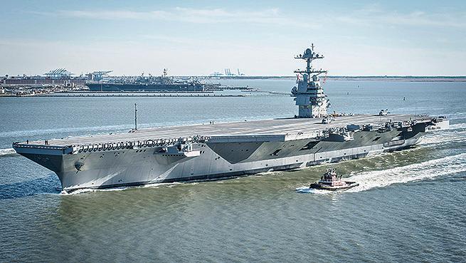 美新航母福特號擬提前服役