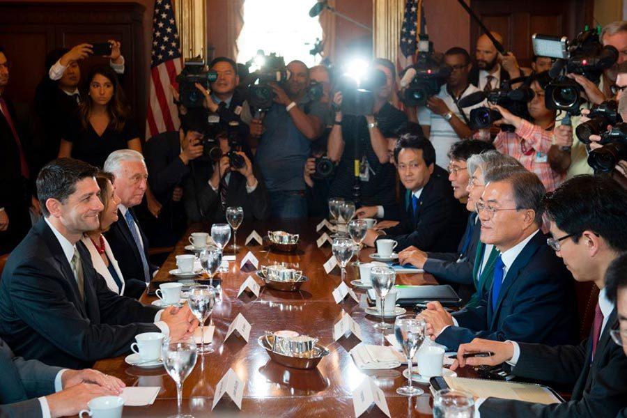 文在寅訪美 眾院議長籲共同應對北韓威脅