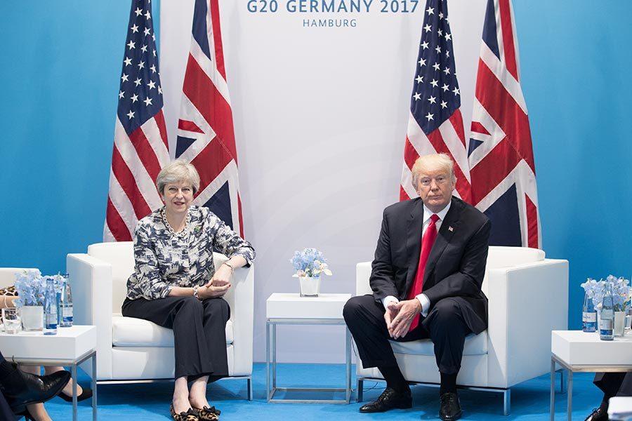 美英首腦會面 將簽強有力貿易協定