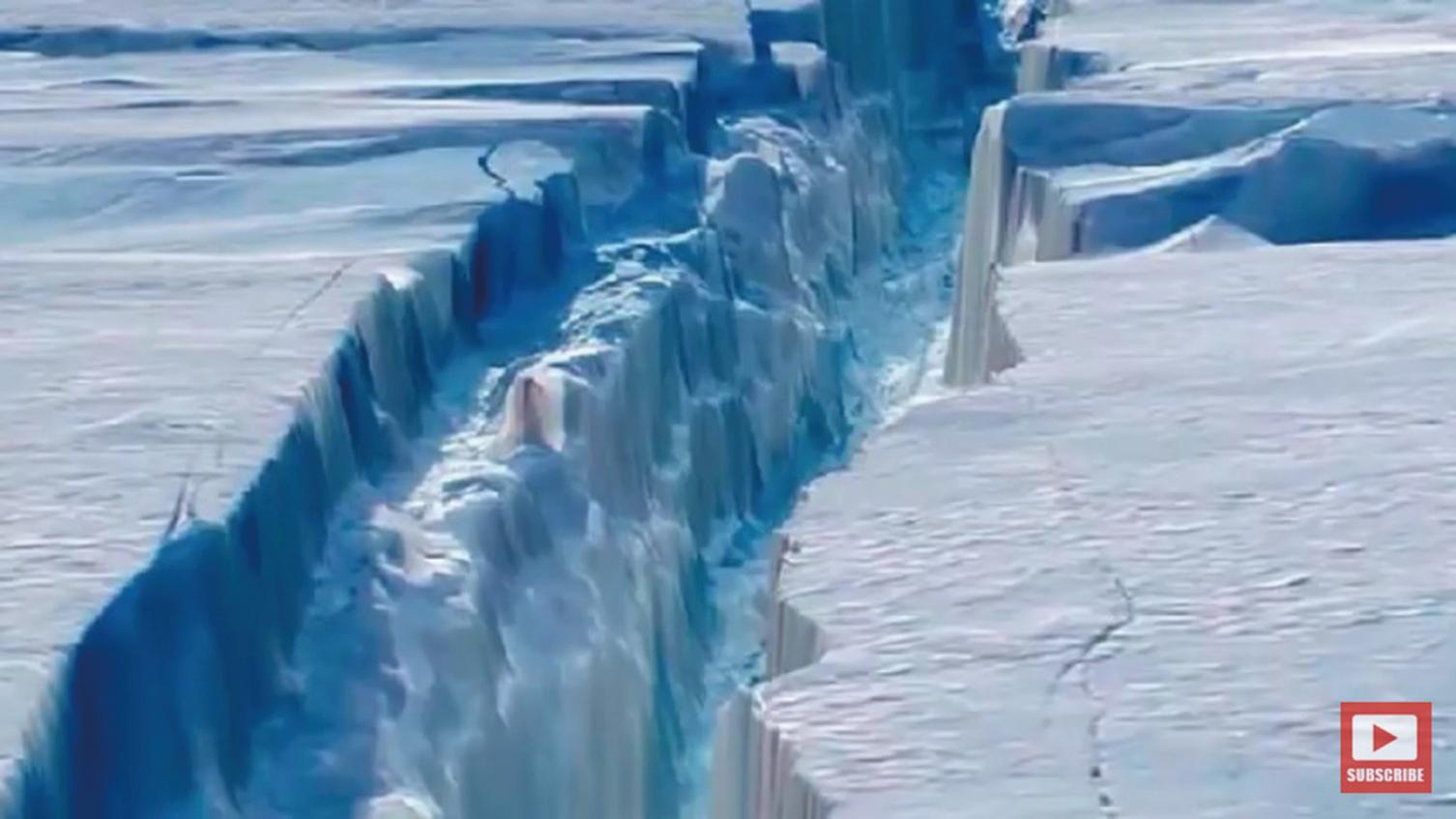南極冰棚最大面積冰川崩裂