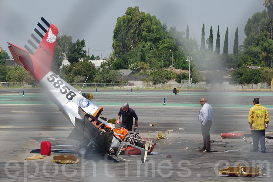 小飛機墜落洛杉磯 遇難者疑是華裔富商