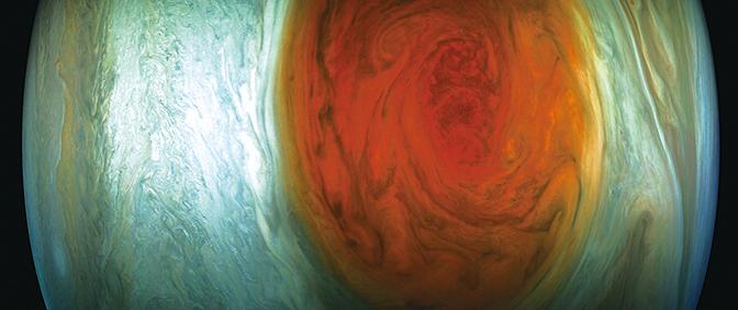 NASA公佈木星「大紅斑」近距照片