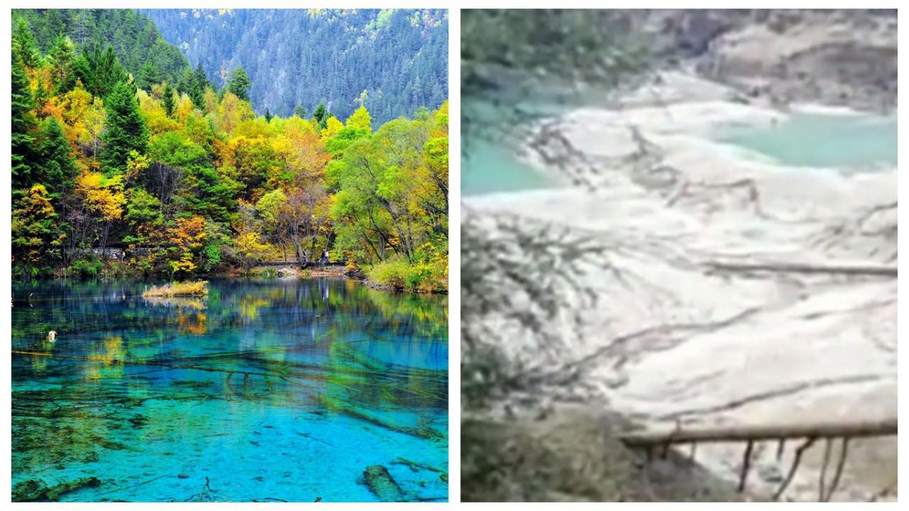 川九年三強震 「火花海」絕景消失