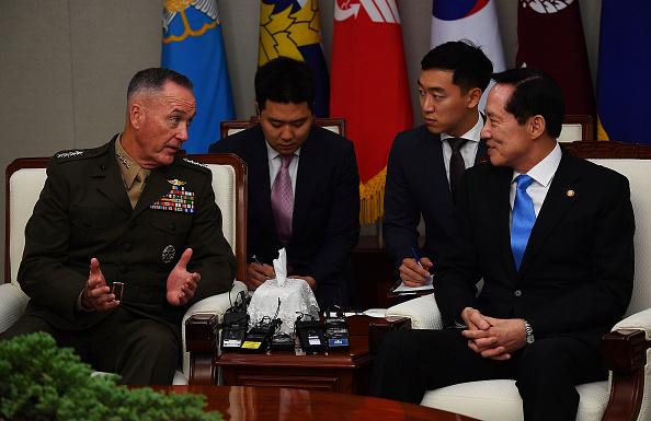 朝鮮半島局勢趨緊 美軍參聯會主席抵韓
