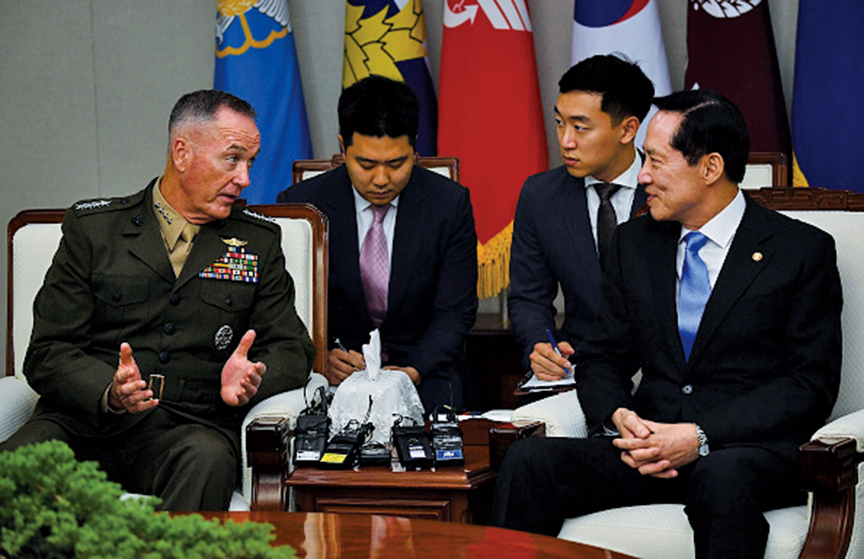 美軍參聯會主席抵韓談部署