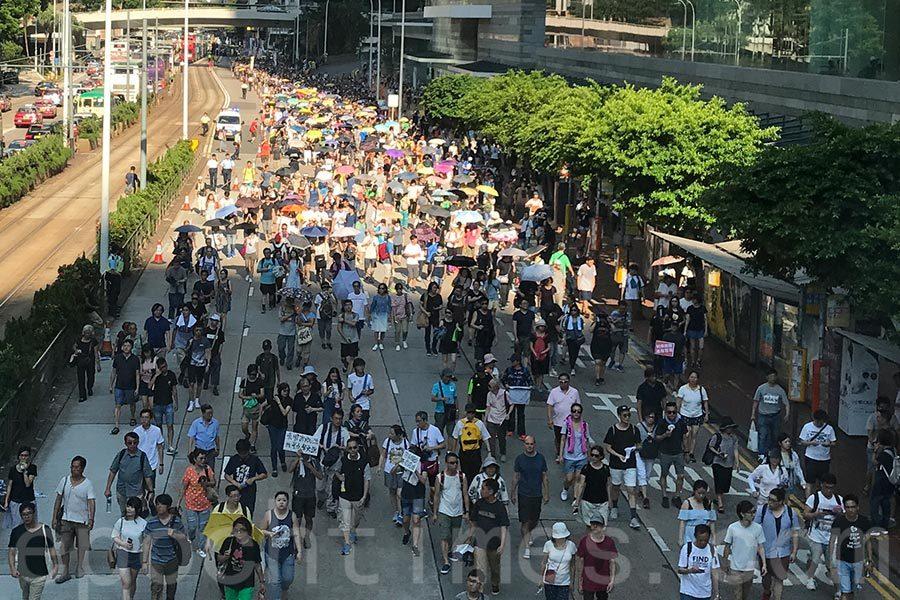 多個團體遊行聲援入獄抗爭人士