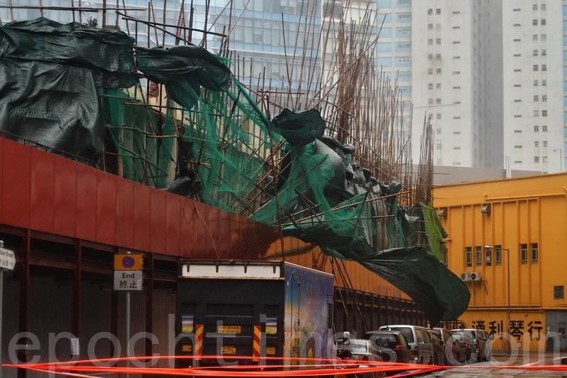 天鴿吹襲下全港破壞處處