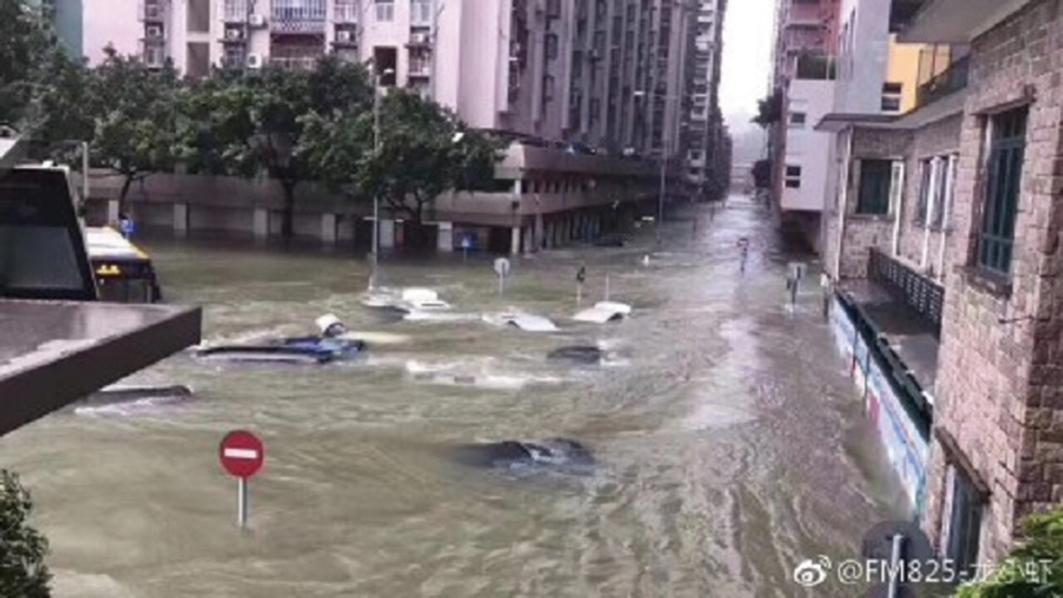 颱風「天鴿」襲粵 江門遭重創 深圳交通癱瘓