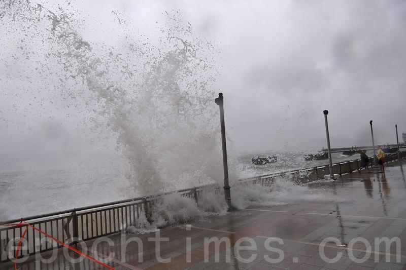 颱風下杏花邨出現輕微水浸
