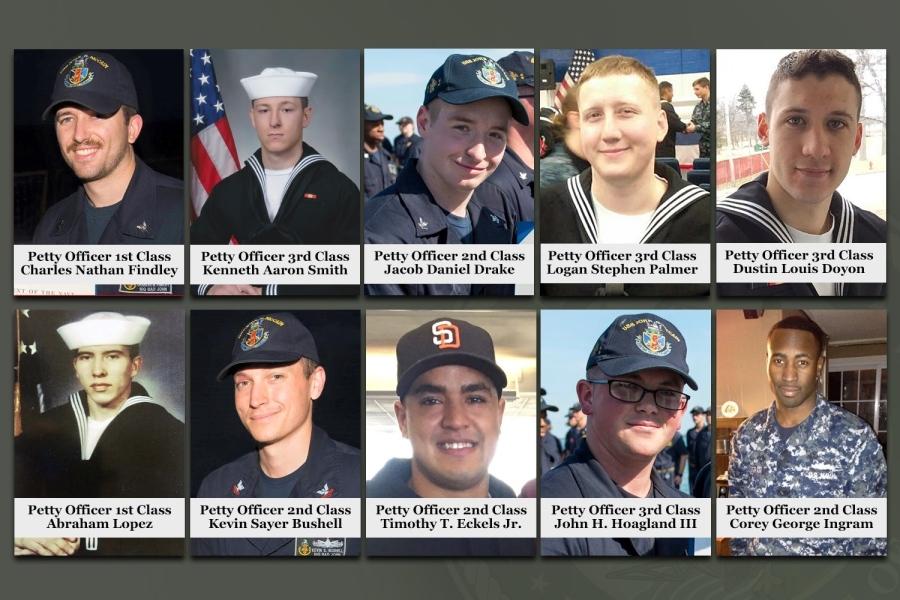 美軍艦十失蹤水手遺體全尋獲 身份確認