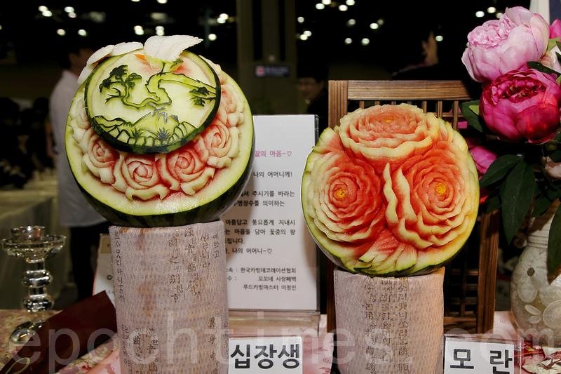 韓國食材刀工賽 創意作品栩栩如生