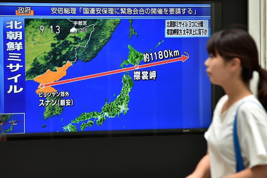 北韓無預警射導彈 穿越日本領空