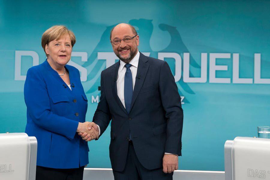 德國大選電視辯論 默克爾領先