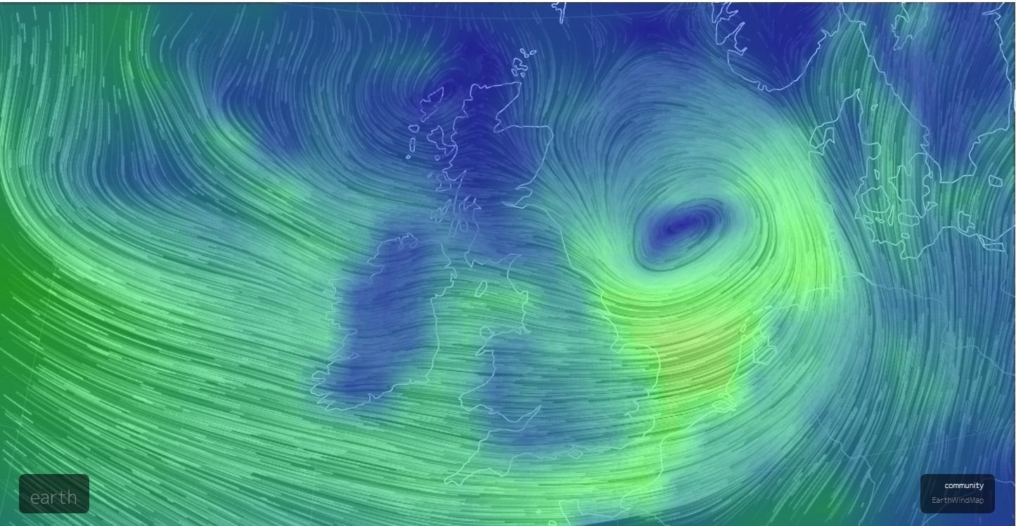 風暴艾琳狂吹英國 交通混亂大面積斷電