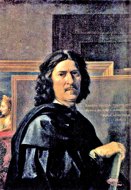蒲珊《自畫像》,1650年,油畫,98x74cm,羅浮宮藏。(wikipedia)