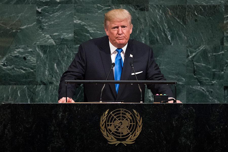 特朗普聯大痛批流氓政權 警告摧毀北韓