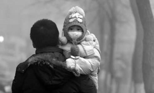 大陸陰霾使人減壽 兒童變「陰霾臉」