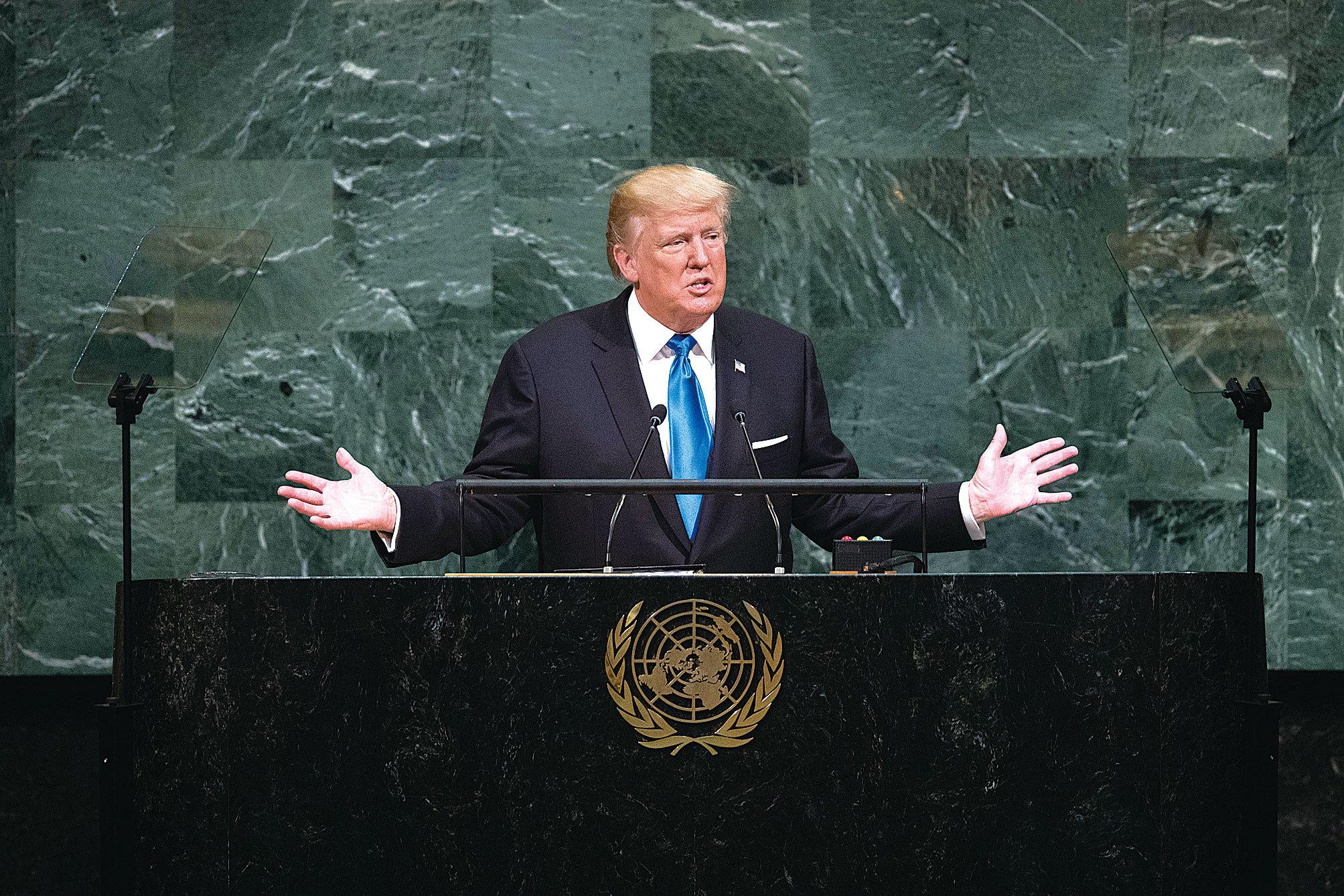 特朗普演講 為世界展新視野