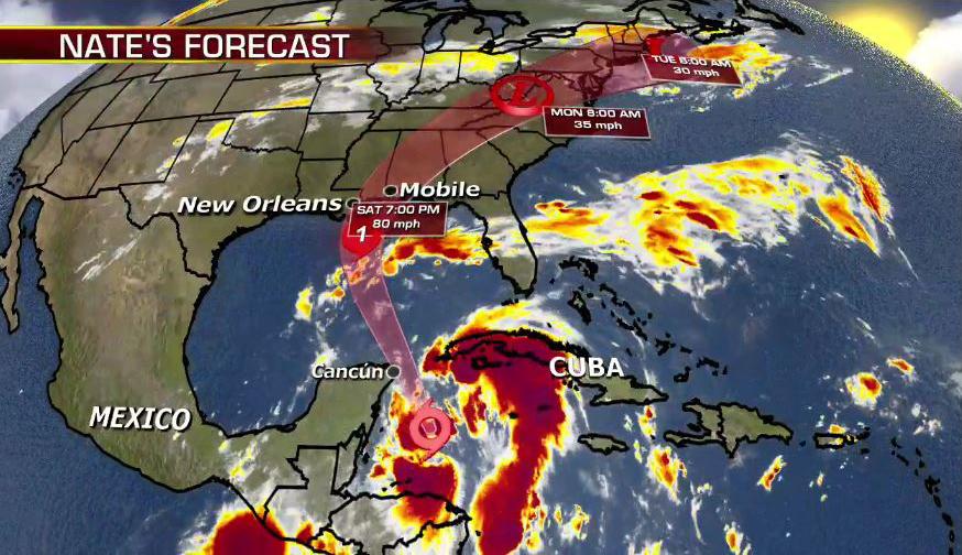 納特致24死 將升級為颶風襲美墨西哥灣各州