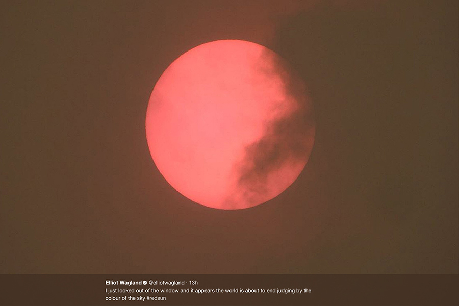 罕見風暴致英國出現紅太陽 愛爾蘭全國停擺