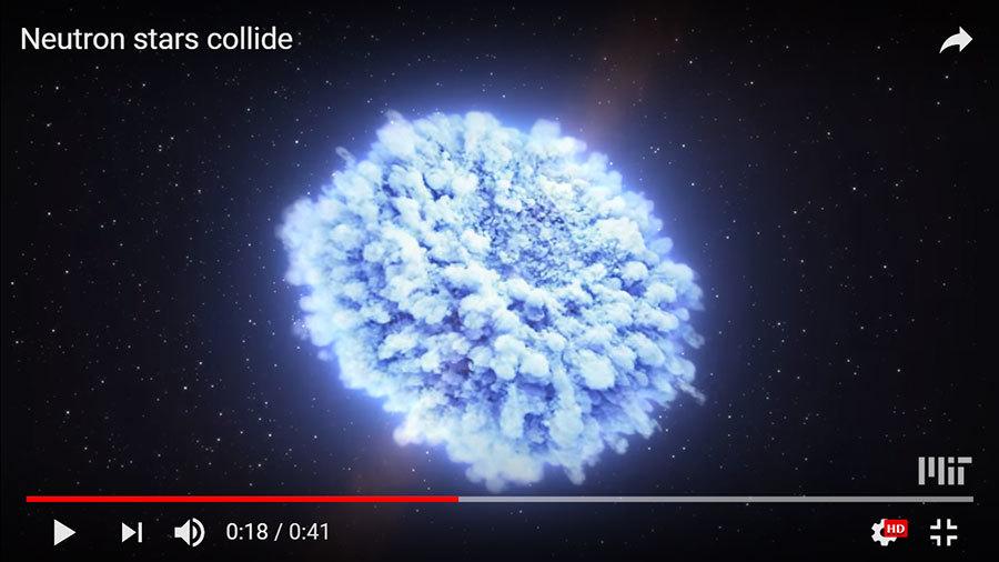 人類首次探測到中子星相撞 揭秘重金屬來源