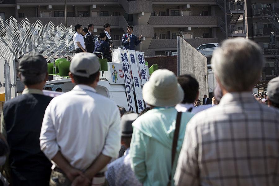 日國會大選朝野街頭拉票 中國遊客大開眼界