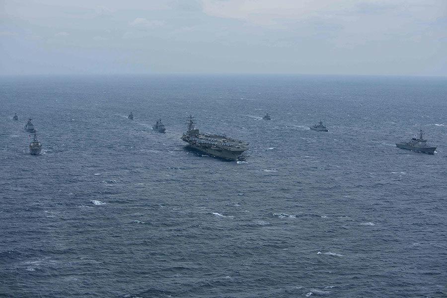 北韓懼美韓軍演出狂言 美航母巡航發警告