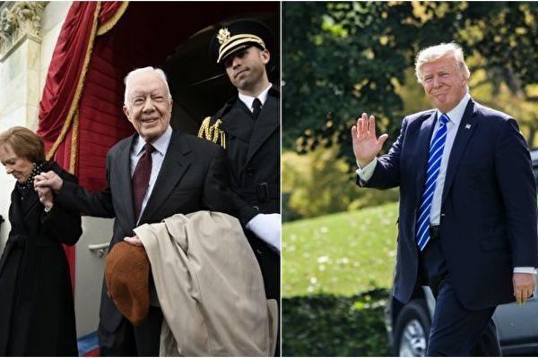 前總統卡特批媒體不公 特朗普發推感謝