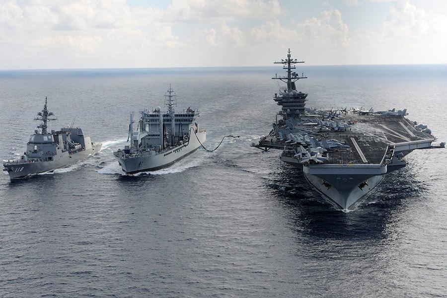 三大航母伴特朗普亞洲行 罕見聚西太平洋演習