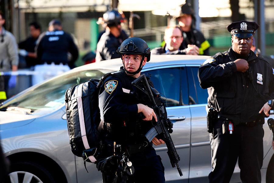 曼哈頓恐襲 疑犯行凶後逃竄被擒畫面曝光