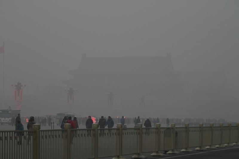 陰霾再襲京津冀 上海鄭州也「淪陷」