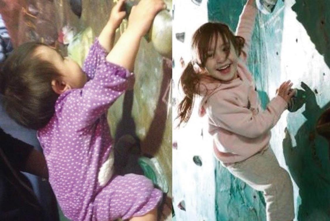 不會走先學攀岩  澳1歲童爬20米牆