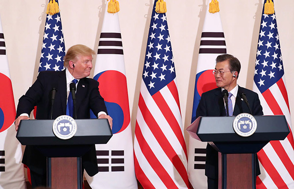 特朗普促成出售先進武器 美韓協議最大限度制裁北韓
