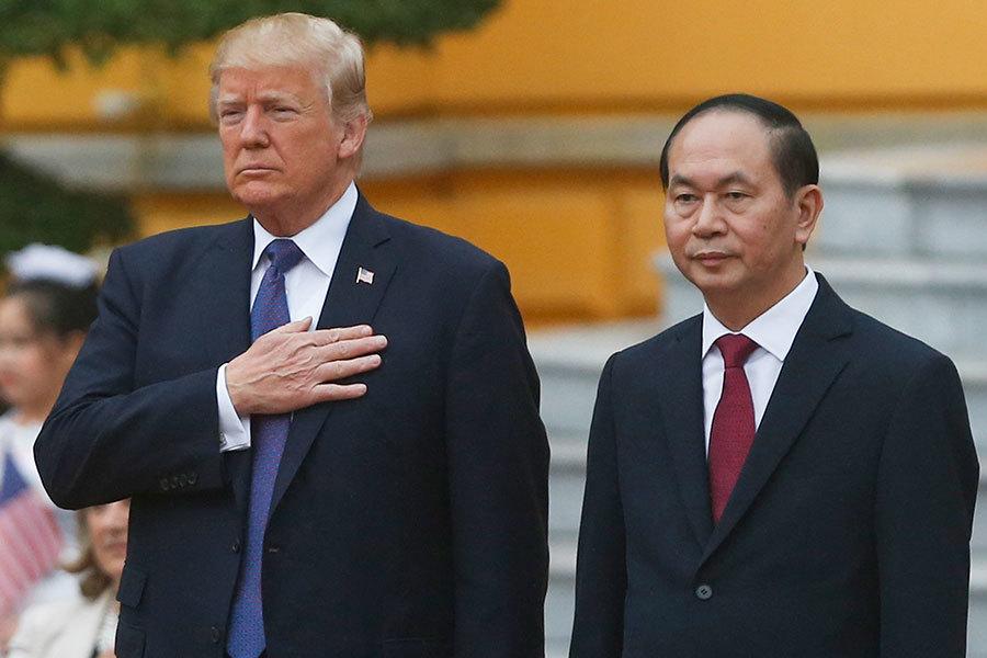 特朗普訪越南 北韓和貿易問題是重中之重