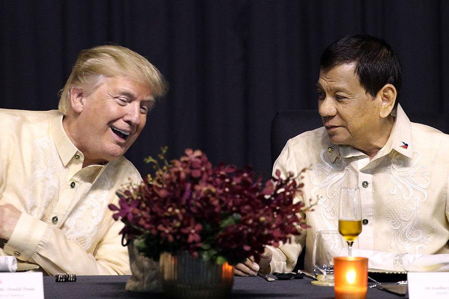 特朗普抵菲律賓 參加東盟成立五十周年慶祝儀式