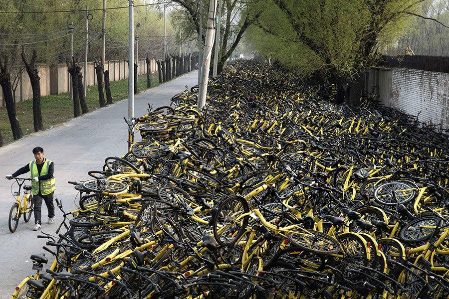 大陸共享單車現倒閉潮 半年倒下六家