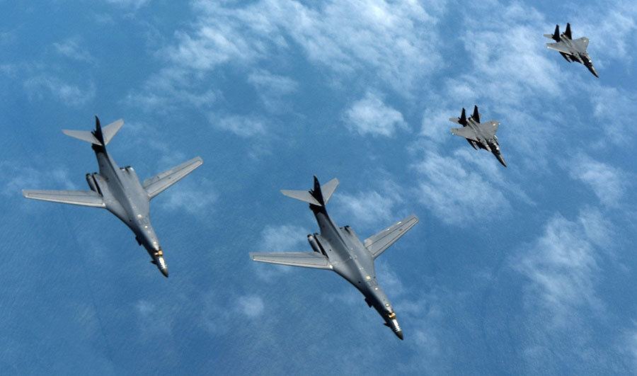 美B-1B轟炸機飛半島 參加美韓史上最大軍演