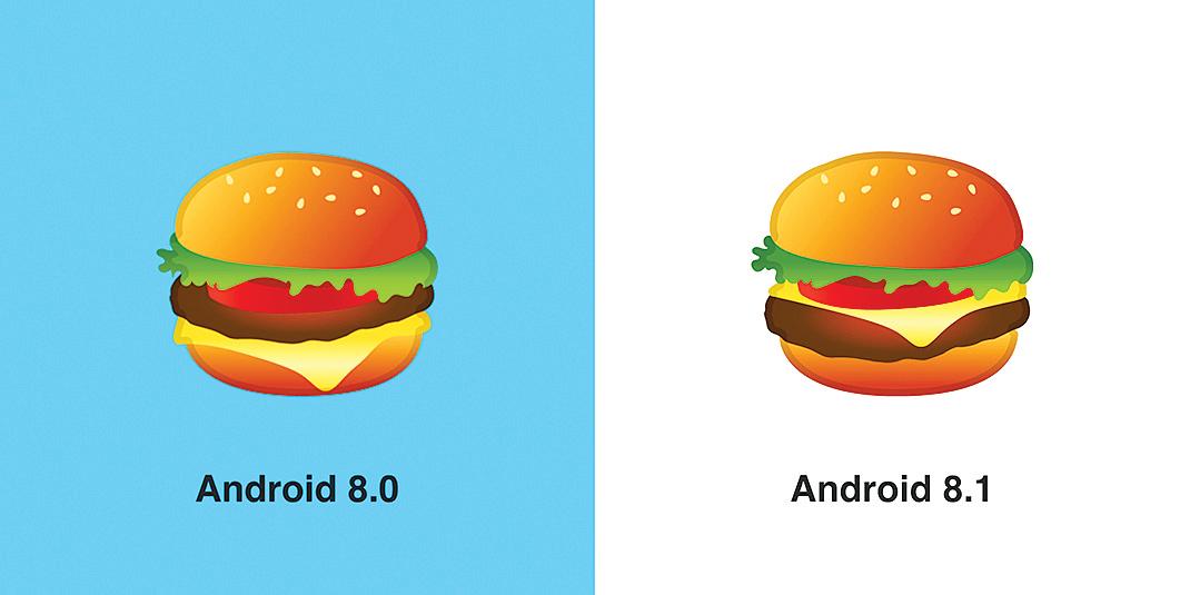 知錯必改 Google修改了漢堡emoji