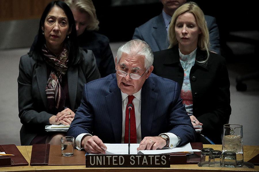 蒂勒森聯合國演講 要求中俄切斷北韓命脈