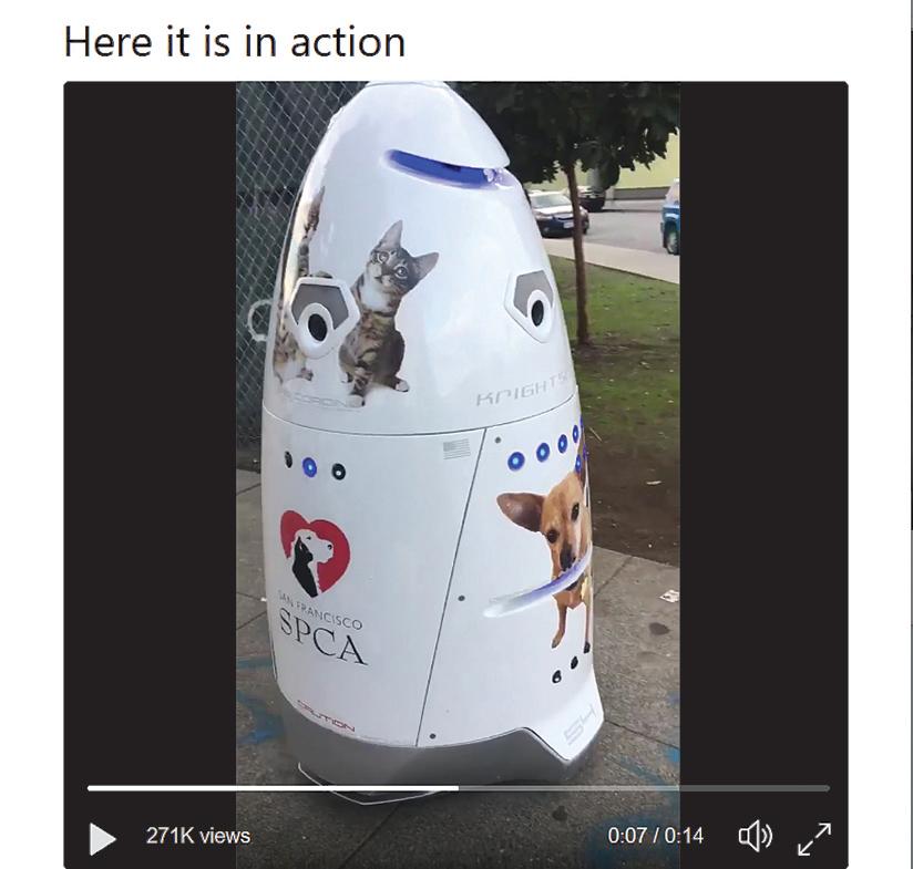 舊金山用機器人保安 對付遊民