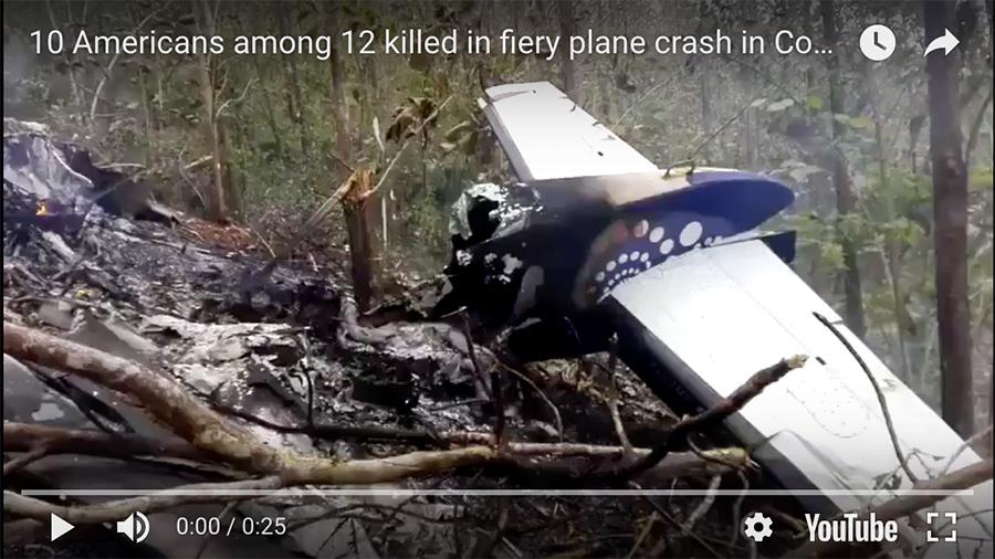 哥斯達黎加小型客機墜毀 十美國乘客遇難